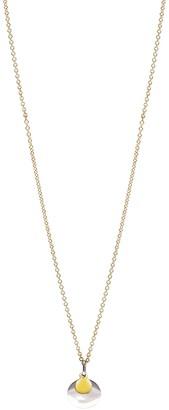 Bony Levy Two-Tone 14K Gold Double Circle Pendant Necklace