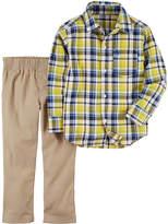 Carter's Plaid Woven & Twill Pant 2 Piece Set - Baby Boy NB-24M