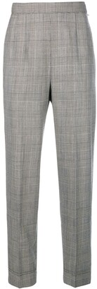 Moschino Pre Owned Check Cropped Trousers
