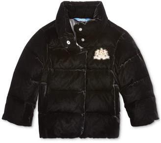 Polo Ralph Lauren Toddler Girls Quilted Velvet Down Jacket