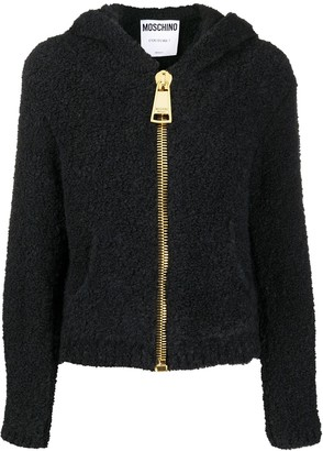 Moschino Knitted Hooded Jacket