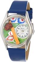 Whimsical Watches Women's S0820004 Baseball Royal Blue Leather Watch