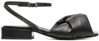 Vic Matié Knot-Detailed Leather Sandals