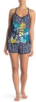 Jonquil In Bloom By Floral Print Camisole & Shorts 2-Piece Pajama Set