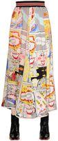 Tsumori Chisato Comic Printed Silk Chiffon Skirt