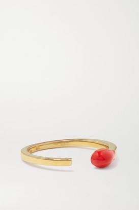 Alison Lou Match Stack 14-karat Gold And Enamel Ring - 5