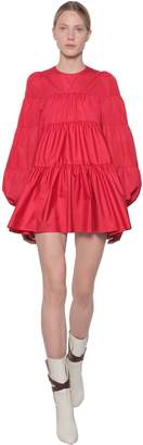 Giamba Ruffled Taffeta Mini Dress