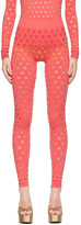 Thumbnail for your product : MAISIE WILEN Red Perforated Leggings