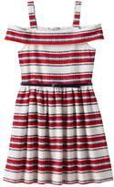 Knitworks Girls 7-16 Belted Cold Shoulder Dress