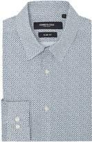 Kenneth Cole Yards Slim Fit Geometric Print Shirt