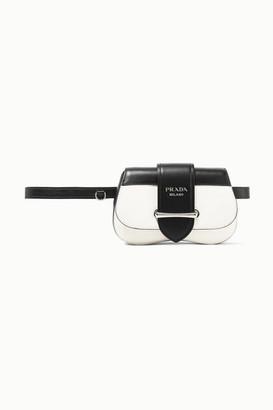 Prada Sidonie Two-tone Leather Belt Bag - White