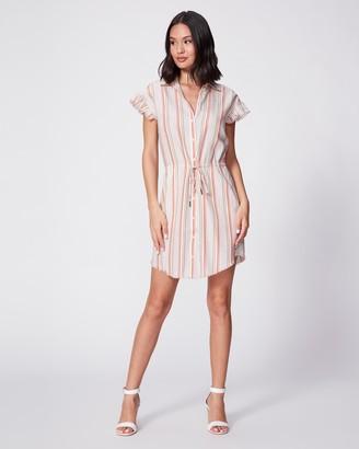Paige Jaylin Dress-White/ Fuchsia