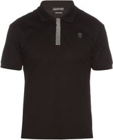Alexander McQueen Studded-trim cotton-piqué polo shirt