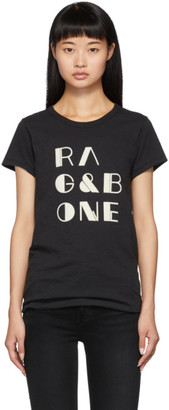 Rag & Bone Black Logo Vintage T-Shirt