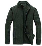 LOVEBEAUTY Men's Casual Full-Zip Knit Cardigan Sweater L