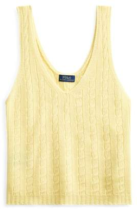 Ralph Lauren Cable-Knit Cashmere Tank Top