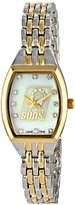 Game Time Women's NBA-WCL-PHO World Class Two-Tone Stones Analog Display Japanese Quartz Silver Watch
