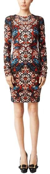 Alexander McQueen Stained Glass Print Jersey Dress