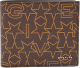 Givenchy Star-print bi-fold leather wallet