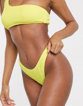 South Beach Mix and Match Textured High Leg Bikini Bottom