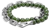 John Hardy Sterling Silver Classic Chain Wrap Bracelet with Jade