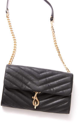 Rebecca Minkoff Black Edie Wallet On Chain Black 1 Size