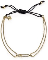 Rebecca Minkoff Safety Pin Chain Adjustable Pull-Tie Bracelet