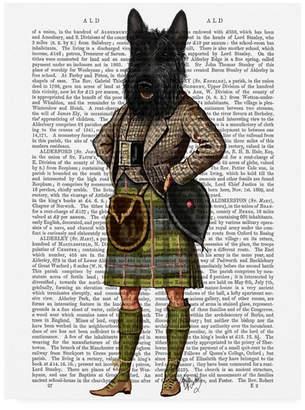 "Fab Funky Scottish Terrier in Kilt Canvas Art - 27"" x 33.5"""