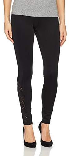 Hue Women's Laser Cut Ponte Leggings Sockshosiery,Extra Large
