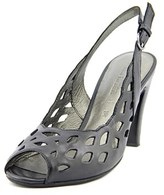 Gerry Weber Sascha 06 Women Peep-toe Leather Black Slingback Heel.