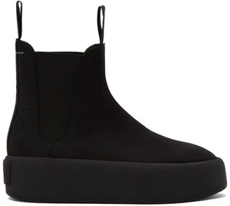 MM6 MAISON MARGIELA Black Platform Pull-On Boots