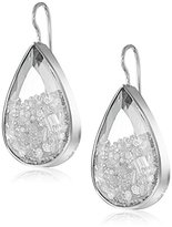 "Moritz Glik Kaleidoscope"" 18k White Gold and Floating Diamond Earrings"
