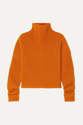 Petar Petrov Kate Ribbed Cashmere Turtleneck Sweater - Orange