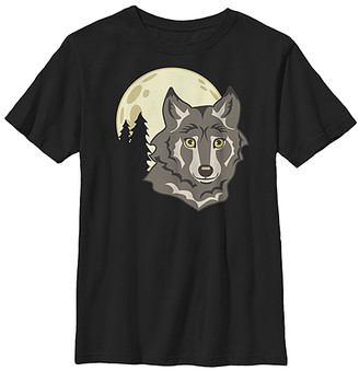 Fifth Sun Boys' Tee Shirts BLACK - Black Wolf & Moon Tee - Boys