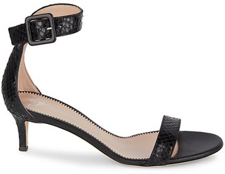 Giuseppe Zanotti Embossed Leather Ankle-Strap Sandals