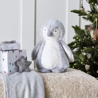 The White Company Snowy Penguin Medium Toy, White Grey, One Size