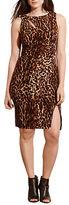 Lauren Ralph Lauren Plus Ocelot-Printed Jersey Dress