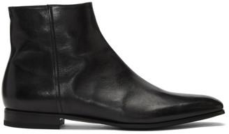 Prada Black Canguro Zip Boots