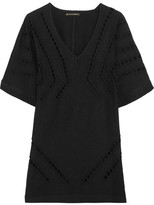 Vix Luma Embroidered Cutout Voile Kaftan - Black