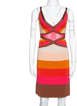 M Missoni Multicolor Colorblock Knit Fitted Dress L
