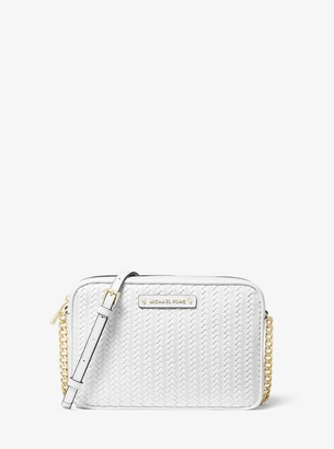 MICHAEL Michael Kors Jet Set Large Woven Leather Crossbody Bag