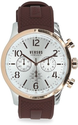Versace Versus Naboo Two-Tone Stainless Steel Chronograph Silicone Strap Watch