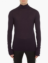 Lanvin Plum Fine-knit Roll-neck Sweater