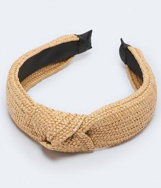 Aeropostale Woven Raffia Knot Headband