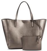 Merona Women's Reversible Faux Leather Tote Handbag