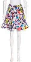 Alice + Olivia Silk-Blend A-Line Skirt