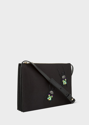 Paul Smith Women's Black Embroidered 'Beetle' Concertina Cross-Body Bag