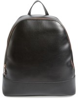 Sole Society Chester Faux Leather Backpack - Black