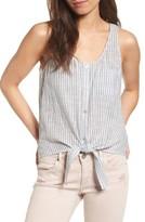 AG Jeans Women's Cynthia Tie Front Cotton Tank