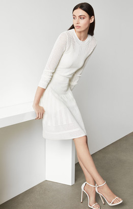 BCBGMAXAZRIA Open Knit Sweater Dress